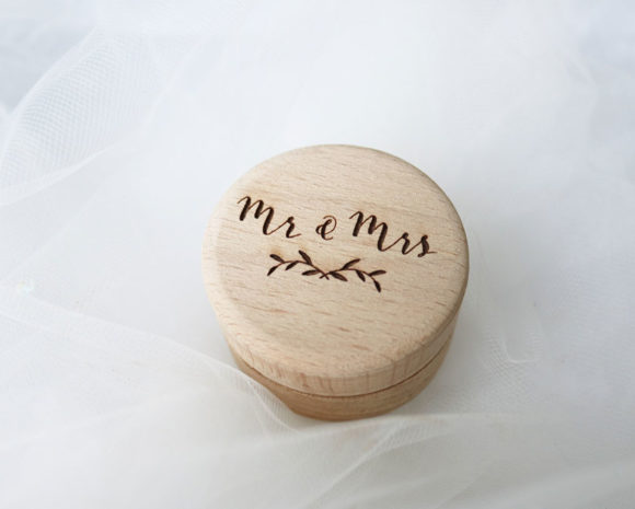 Personalised Wooden Wedding Ring Box