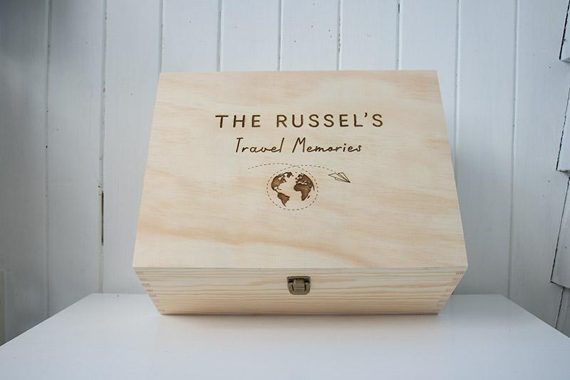 personalised travel keepsake box
