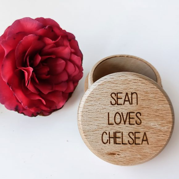 personalised wooden ring box